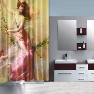 Beautiful angel girl pattern flow Fabric Bathroom Shower Curtain Without Hooks