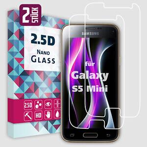 2x Panzerfolie für Samsung Galaxy S5 Mini Display Schutzfolie Panzer Schutz Glas