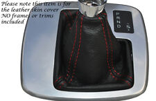 RED STITCH AUTO AUTOMATIC LEATHER GEAR GAITER FITS FORD MONDEO MK4 IV 07-14