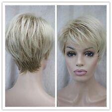 Blonde / brun   mix , droites, courtes, femmes perruques.+ gratuit hairne
