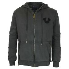 True Religion Moto Dark Grey Hoodie LARGE *NEW WITH TAGS* RRP £195