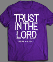 TRUST IN THE LORD *OLDSKOOL* CHRISTIAN T-SHIRT* MANY COLORS & SIZES