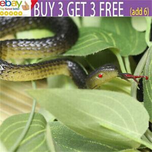 Realistic Soft Rubber Fake Snake Toy Garden Props Joke Prank Gift Halloween ra