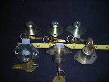 Set of six (6) desk drawer locks..desk locks..drawer locks..cabinet locks