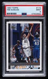 1997-98 Topps Tim Duncan #115 PSA 9 MINT Rookie RC HOF