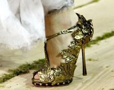 Very Rare Alexander McQueen Gold Leaf Shoes (Size 37)