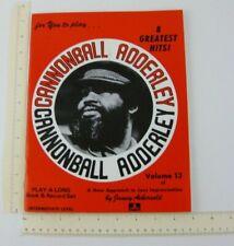 Cannonball Adderley Play A Long Improv Jazz Book 1978 Aebersold Vintage No Vinyl