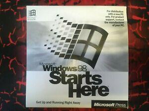 Microsoft Windows 98 starts here training cd-rom