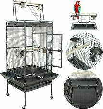 Birdcage Pet Large Bird Cage Play Top Parrot Cockatiel Cockatoo Parakeet 61''