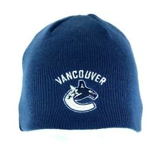 Vancouver Canucks Hockey Reebok Blue Beanie Hat Cap