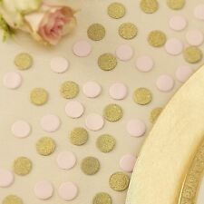 Ginger Ray Gold Glitter & Pastel Pink Wedding / Party Table Confetti