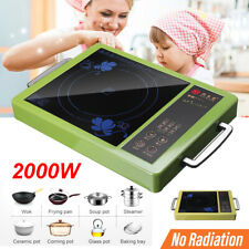 Portable Electric Induction Cooker Stove Cooktop HotPlate Ceramic Kitchen 2200W