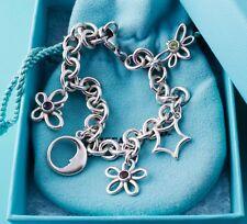 Tiffany & Co Gemstone Silver Butterfly Moon Star Flower Bee/Dragonfly Bracelet