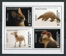 St Vincent & Grenadines 2017 MNH Wild Animals of World 4v M/S Monkeys Stamps