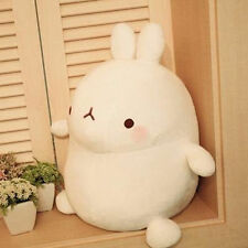 Cute Molang Rabbit Cuddly White Bunny Plush Toy Girls Xmas Gifts 25cm