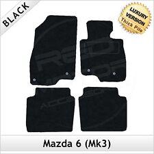 MAZDA 6 Mk3 2013 in poi su misura 1300g di Lusso Tappeto Tappetini Per Auto Nero