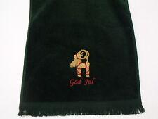 Swedish Norwegian Danish God Jul Goat Embroider Towel FT23GRN