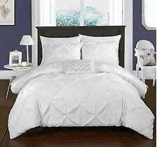 = Chic Home Daya 4 Pc King Duvet Cover Set White Pinch Pleat Ds2438