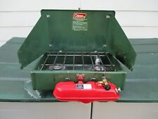 Coleman 425F  two burner camp stove dated 7-82