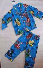 Flannel Pajama Sets Blue Sleepwear for Boys