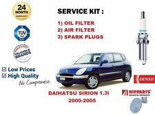 FOR DAIHATSU SIRION 1.3 2000-2005 OIL AIR 2 FILTER SET + SPARK PLUGS SERVICE KIT