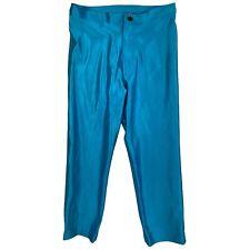 Vintage Fredricks of Hollywood Pants 4 Blue Stretch Spandex 70s Disco 60s Mod