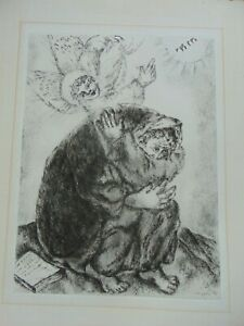 VINTAGE MARC CHAGALL ETCHING - PRIERE D' ISAIA - c.1956