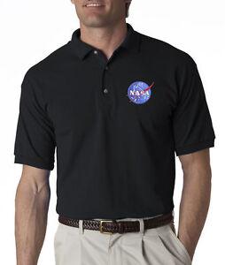 Nasa Meatball Insignia Mens Polo Shirt XS-6XL, LT-4XLT Space Shuttle Apollo New