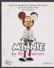 Disney MINNIE BY 80 CREATEURS Catalogue CHRISTIE'S collector hors commerce MODE