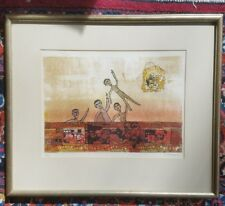 Jean-Pierre Vielfaure signed seriograph 84/100 framed and matted 1968