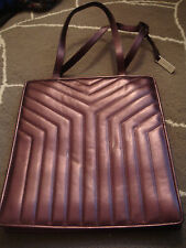 YVES SAINT LAURENT RIVE GAUCHE purple metallic purse