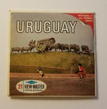 View-Master URUGUAY Nations of the World Series B069 - 3 Reel Set, Booklet Stamp