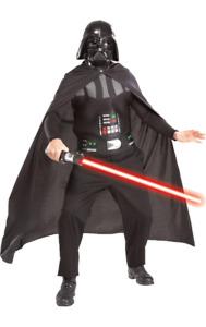 Mens Darth Vader & Lightsaber Star Wars Film & TV Fancy Dress Costume