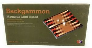 Mini Backgammon Set small travel size Magnetic nib Free Postage
