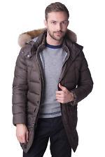 LUIGI BIANCHI MANTOVA Down Parka Jacket Size 50 / M-L Fur Trim Made in Italy