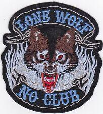 Aufnäher iron-on patch Bügelbild Motorrad Lone Wolf Biker Kute -a7j10