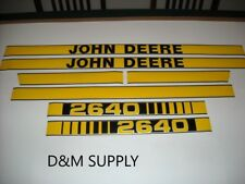 To fit John Deere 2640 tractor decal set