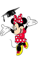 Personalised Handmade Minnie Mouse Graduation/Exam Congratulations Card