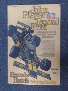 Original Vintage Rare 1970's Brands Hatch Grand Prix Formula 1 F1 poster rare