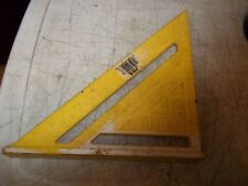 "VINTAGE EMPIRE POLYSQUARE 7"" RAFTER TRIANGLE 296 80 DEGREES w/ CONVERSION TABLES"