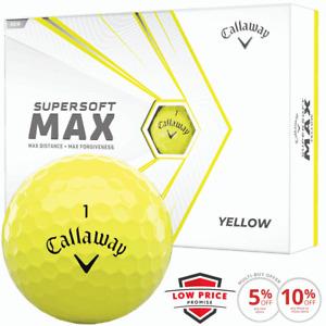 CALLAWAY SUPERSOFT MAX YELLOW GOLF BALLS / NEW FOR 2021 / MULTIBUY DOZEN DEALS