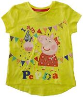 Girls Peppa Pig Happy Birthday Age Bunting T-Shirt Top I Am 1 2 3 4 5 Years
