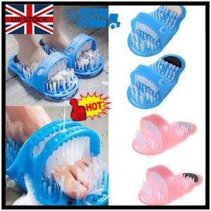 Shower Feet Foot Scrubber Massager Cleaner Spa Exfoliating Washer Slipper Brush