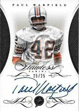 PAUL WARFIELD SIGNED 2015 PANINI FLAWLESS SILVER PARALLEL CARD~HOF AUTO~25/25