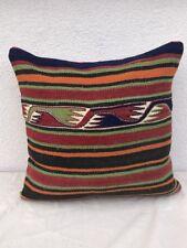 Rare Square Turkish Kilim Pillow Sham, Kelim Rug Sofa Couch Throw, 20'' X 20''