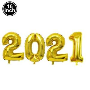 2021 Happy New Year Gold Silver Aluminum Foil Balloon Christmas Party Decoration