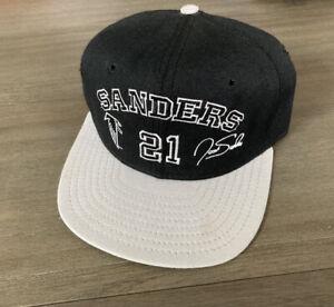 Vintage AJD NFL Atlanta Falcons Deion Sanders Signature Series Hat 90s SnapBack