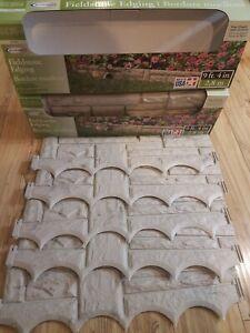 Suncast FDS10TG Fieldstone Edging Brand New, plastic.9ft 4in.x 2 boxes = 18ft