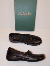 7 M Clarks Bendables Ladies Womens Shoes Loafers Ashland Twist Leather Mary Jane