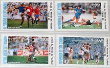 IVORY COAST ELFENBEINKÜSTE 1990 1014-17 C124-27 Soccer World Cup Italy Fußball**